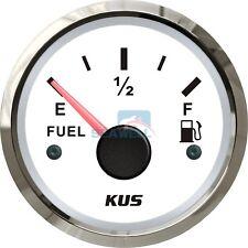 KUS Marine Fuel Tank Gauge Boat Oil Tank Level Indicator 12/24V 52mm 240-33ohms