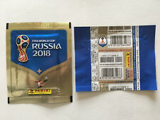POCHETTE PANINI WC COUPE MONDE 2018 RUSSIA PACKET BUSTINA FRENCH HORIZONTALE BLU