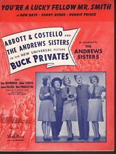 You're A Lucky Fellow Mr Smith Buck Privates Andrews Sisters Abbott & Costello