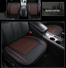 Car Front Seat Cushion  PU (Front Row Mat) For 5 Seats Car Black&Coffe cover