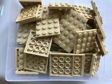 LEGO PARTS-#3031-TAN/BRICK YELLOW 4 X 4 BASEPLATE-25 PLATES