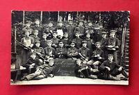 Militär Foto AK BISCHOFSWERDA 1. WK 1916 Gruppenbild Rekruten    ( 40609