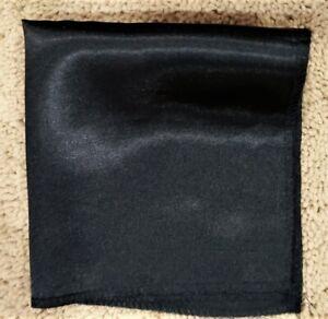 """Men's plain black pocket square 10"""" X 10"""""""