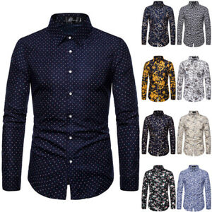 Men's Slim Fit Button Up Casual Shirts Tops Business Formal V Neck Blouse Shirts