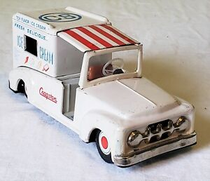 Early Cragstan Toys Japan Friction Dodge Cab ICE CREAM TRUCK 50's V RARE NMINT