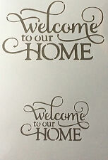 WELCOME TO OUR HOME Mylar Reusable Stencil Airbrush Painting Art Craft DIY