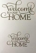 Bienvenidos a nuestra casa de Mylar reutilizable Plantilla Aerógrafo Pintura Arte Arte Hazlo tú mismo