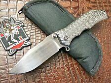 Darrel Ralph Gun Hammer Never Used Titanium Big Bowie Folder DDR Knife