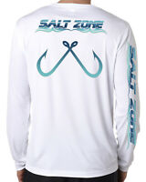 Logo Salt Addiction long sleeve microfiber saltwater fishing t shirt uv upf 50