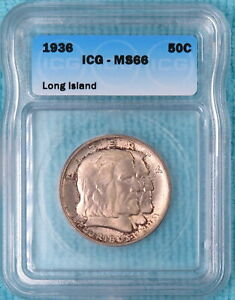 1936 MS-66 Long Island Only 81,826 Minted Classic Commemorative Silver Half #2