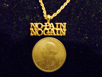 bling gold plated body builder sports pendant charm hip hop necklace jewelry gp