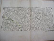 scheda di KRAKOW VARSAVIA BRESLAU da Chanlaire carta antica Polonia Slesia