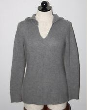 Ann Taylor 100% Cashmere Thick 4ply Gray Hoodie Sweater S
