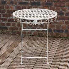 Outdoor Garden Furniture Metal Patio Decking Round Circular Table - 70cm