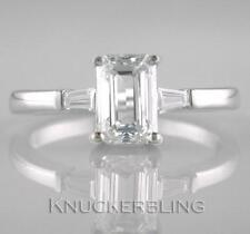 Excellent Cut White Gold VVS1 Fine Diamond Rings
