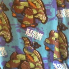 "Teenage Mutant Ninja Turtles Fleece Throw Blanket Nickelodeon 50 x 39"" Soft"