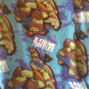"Teenage Mutant Ninja Turtles Fleece Throw Blanket Nickelodeon 50 x 39"" Soft"