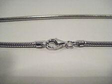 Catena in puro argento 925 coda di topo,44 cm, 2,5 mm. Idea Regalo.