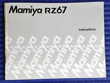 MAMIYA RZ67 Instructions