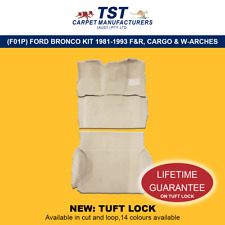 MOULDED CAR CARPET (F01P) FORD BRONCO KIT 1981-1993 F&R, CARGO & WHEEL ARCHES