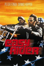 EASY RIDER - FLAG MOVIE POSTER - 24x36 FONDA HOPPER 8064