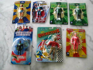 [A1] LOT DC Comic Book Heroes FIGURINES Superman Flash Wonderwoman Green Lantern
