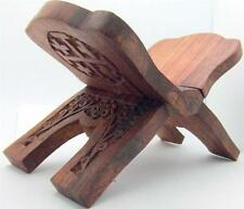 "Mrt Handmade Carved Rosewood Bible Stand Christian Mass Wooden Gift 7 x 4 "" H"