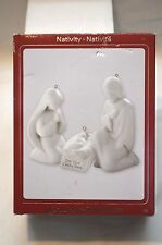 American Greetings Heirloom Ornaments- Nativity [White- Mary, Joseph, Jesus]