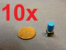 Blue 10 pieces + plastic cap 6x6x7mm Tactile Push Button Switch 10pcs 10x c1
