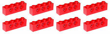 Missing Lego Brick 3701 Red x 8 Technic Brick 1 x 4