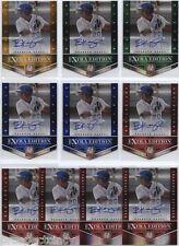 Lot of (10) Branden Kaupe 2012 Panini Elite Auto RC's  - New York Mets SS