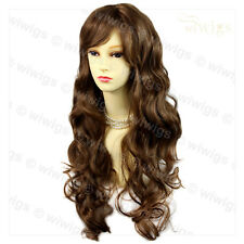Wiwigs Beautiful Layered Light Chestnut Brown Wavy Skin Top Ladies Wig