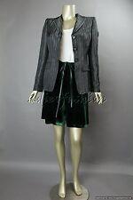 $2225 New GIORGIO ARMANI Green Velvet Tie Cinch Waist Skort Shorts Skirt 38 2
