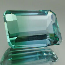 14,90ct  Blue Green Ametrine - Octagonal cut - Scarce color - VVS - Bolivia