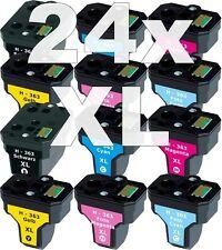 24x XXL PATRONE für HP363 C5180 C6250 C7180 C7280 C8180 3110 3210 3310 8230 8250