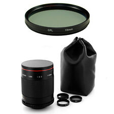 Albinar 500mm F/8 Mirror Lens for Sony Alpha Minolta AF A580 A560 A390 A77 A580