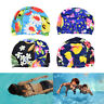 Women Floral Waterproof Spandex Stretch Swimming Cap Bathing Hat  Vf