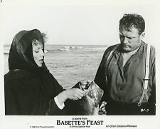 STEPHANE AUDRAN  LARS LOHMANN LE FESTIN DE BABETTE 1987 PHOTO ORIGINAL #3