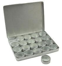 """Clear Top Round Aluminum Storage Container Set,1.2"""" Diameter Mini DIY Favour Box"""