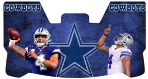 Custom Cowboys Dak Prescott Football Helmet Visor, W/ Unbranded Clips