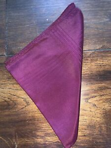 Dark Red Square Pocket Scarf BRAND NEW 100% English Silk 38x40cm HANDMADE