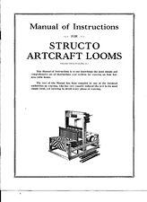 Digital Pdf Instruction Manual for Structo Artcraft Looms