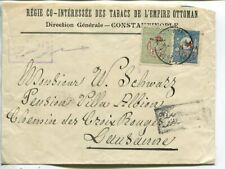 Turkey cover to Switzerland 1917, upper back flap missing