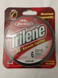 Berkley Trilene XL 6 lb 330 yards clear  NIP