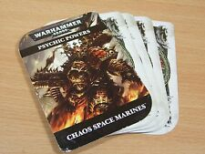OOP WARHAMMER 40K CHAOS PSYCHIC POWERS CARDS COMPLETE SET (112)