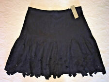 J Crew Skirt 2 Eyelet Floral Mini $89.50 Black NWT f2318 Sold Out Online