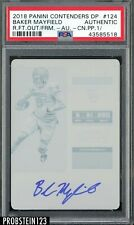 2018 Contenders College Ticket Baker Mayfield RC AUTO Printing Plate 1/1 PSA