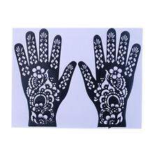 New India Henna Temporary Tattoo Stencils For Body Art Hand Stickers 2017
