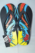 Fox Racing Men Flip Flop size 7 Black w Graphic