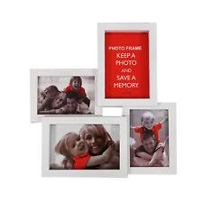 Foto Collage Weiß 10x15 9x13 cm 4 Bilder Galerie Multirahmen Bilderrahmen